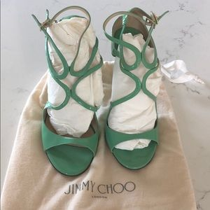 Jimmy Choo Lance Heels! 36.5 LIKE NEW! Mint green!